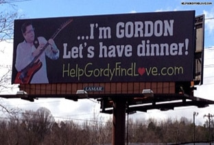 HelpGordyFindLove.com billboard