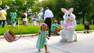 Child fleeing when felt cornered Like a Rat with Easter Bunny