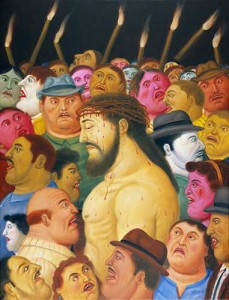 Botero Jesus and the Crowd It's Not Personal