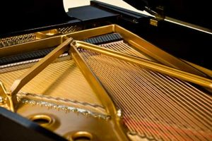 A Grand Piano Being Tuned be the Master Tuner