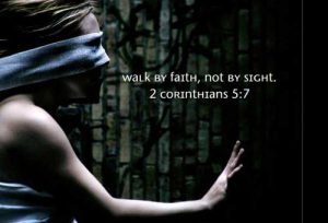 Sovereignty is a matter of FAITH, not sight!