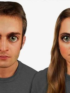 Example of Human Eyes Judging