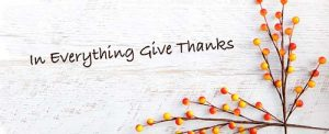 To Give Thanks in Everything
