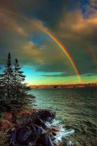 The Smile of God in a Rainbow All Around Raspberry Island Michigan
